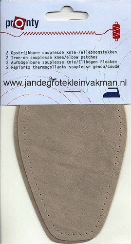 Pronty opstrijk- opnaaibare elleboogstukken lichbeige, 2 st.