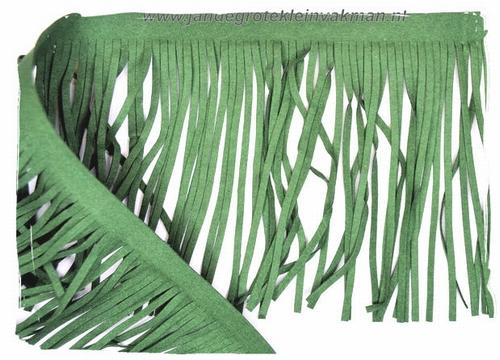 Suéde franjeband, groen