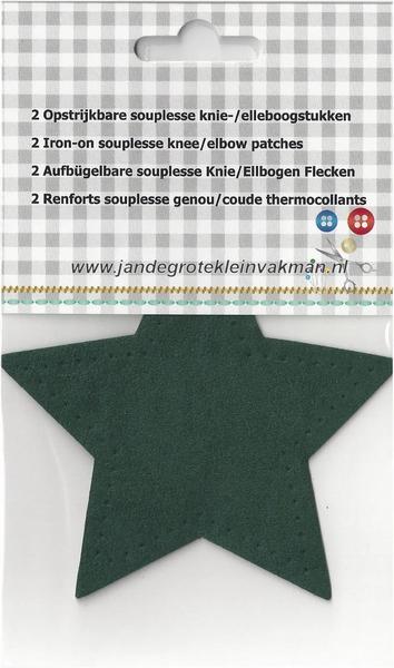 Opstrijkbare knie/elleboogstukken, souplesse2 stuks, groen