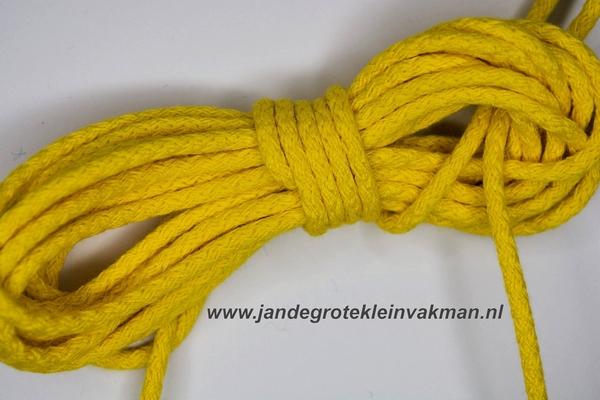 Capuchonkoord, citroengeel, Ø3,5mm, prijs per meter
