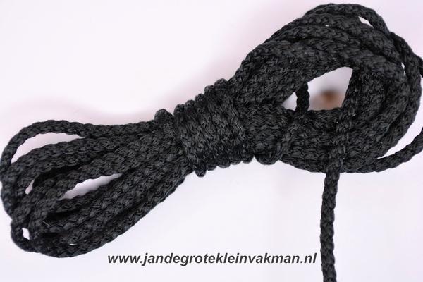 Capuchonkoord, zwart, Ø3,5mm, prijs per meter