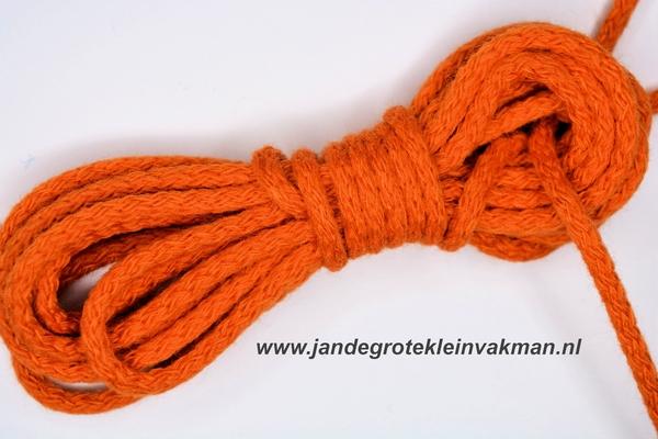 Capuchonkoord, oranje, Ø3,5mm, prijs per meter