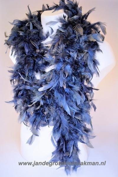 Mooie boa van vogelveren, donkerblauw