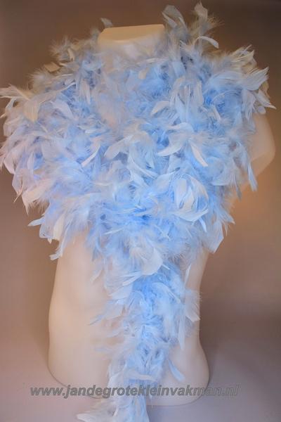 Mooie boa van vogelveren, ijsblauw