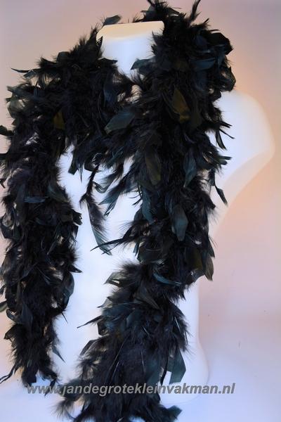 Mooie boa van vogelveren, zwart