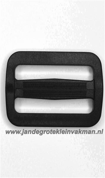 Gesp, kunststof, zwart, 25 mm