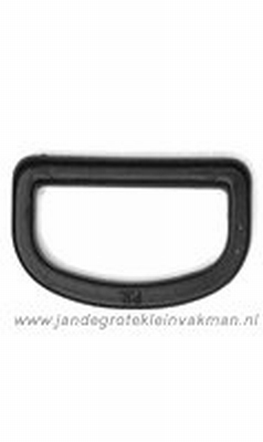 D-Ring, kunststof, zwart, 40mm