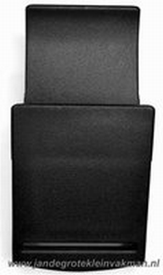Klepgesp, kunststof, zwart, 40mm