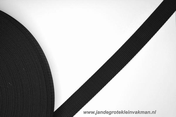 Koppelband, zwart, 25mm, per meter