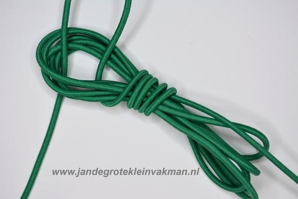 Koordelastiek, 3mm, per meter, groen, prijs per meter