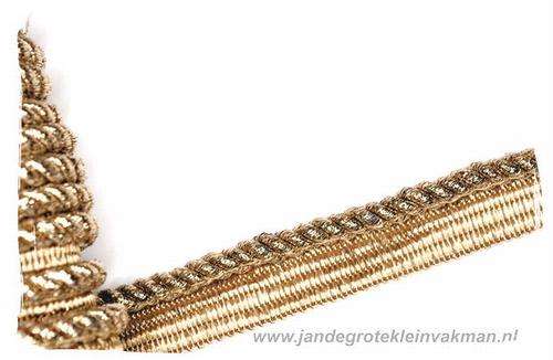 Paspelband, goudkleur, ca. 18mm breed, per meter