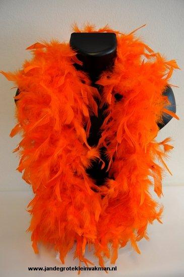 Mooie boa van vogelveren, oranje