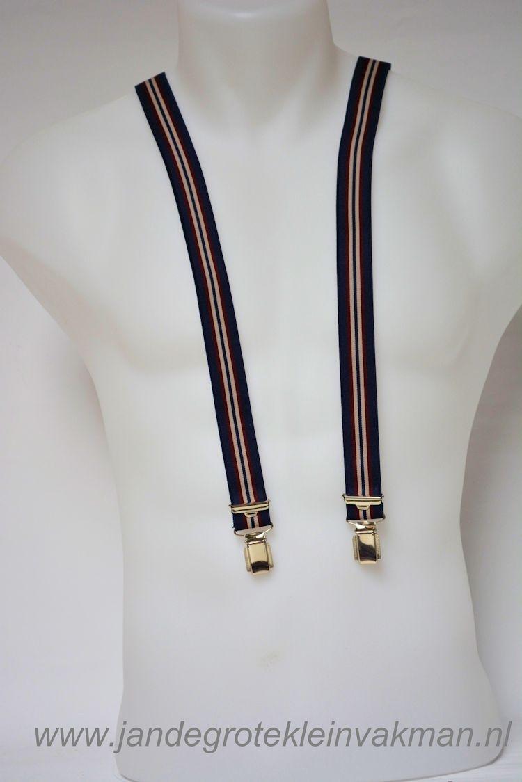 Bretel 25mm breed, met fraaie modieuze print, ca.115cm lang