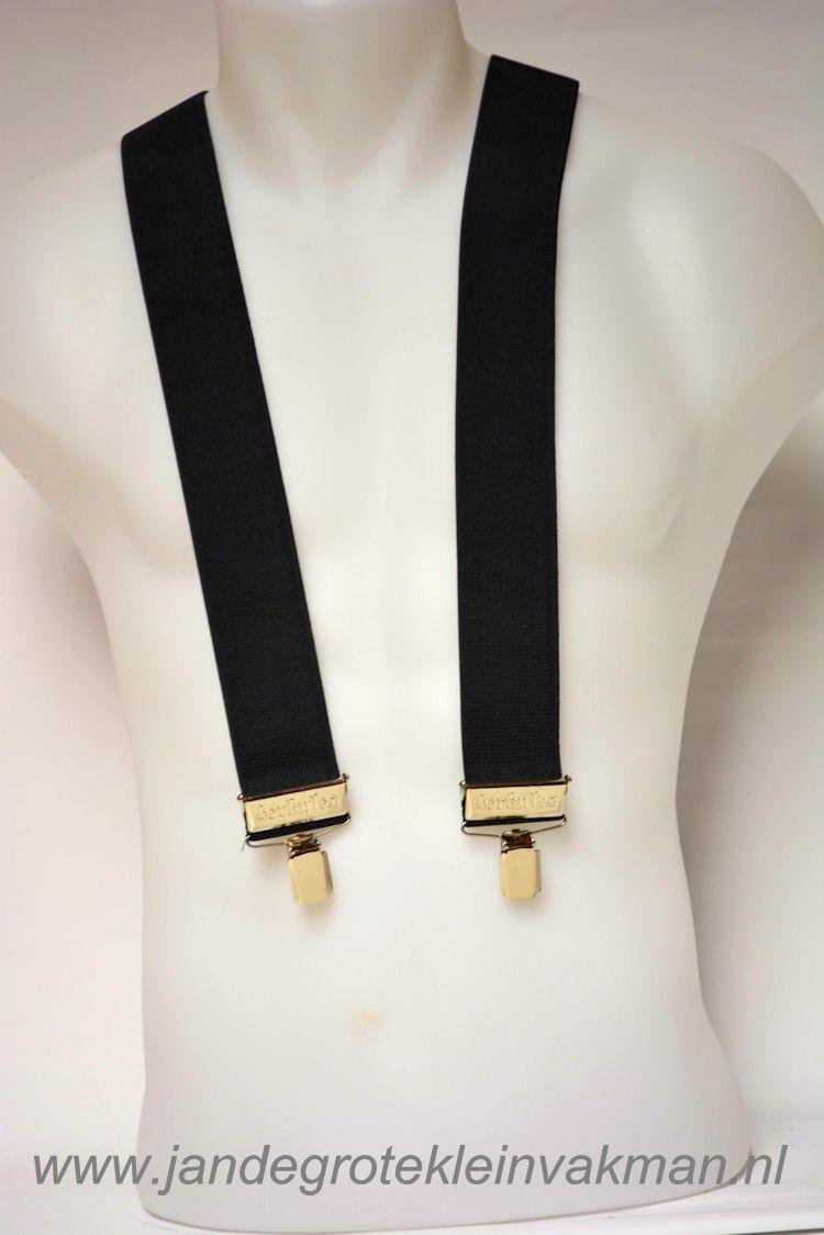 Bretel 45mm breed, met klemmen bevestigen, zwart