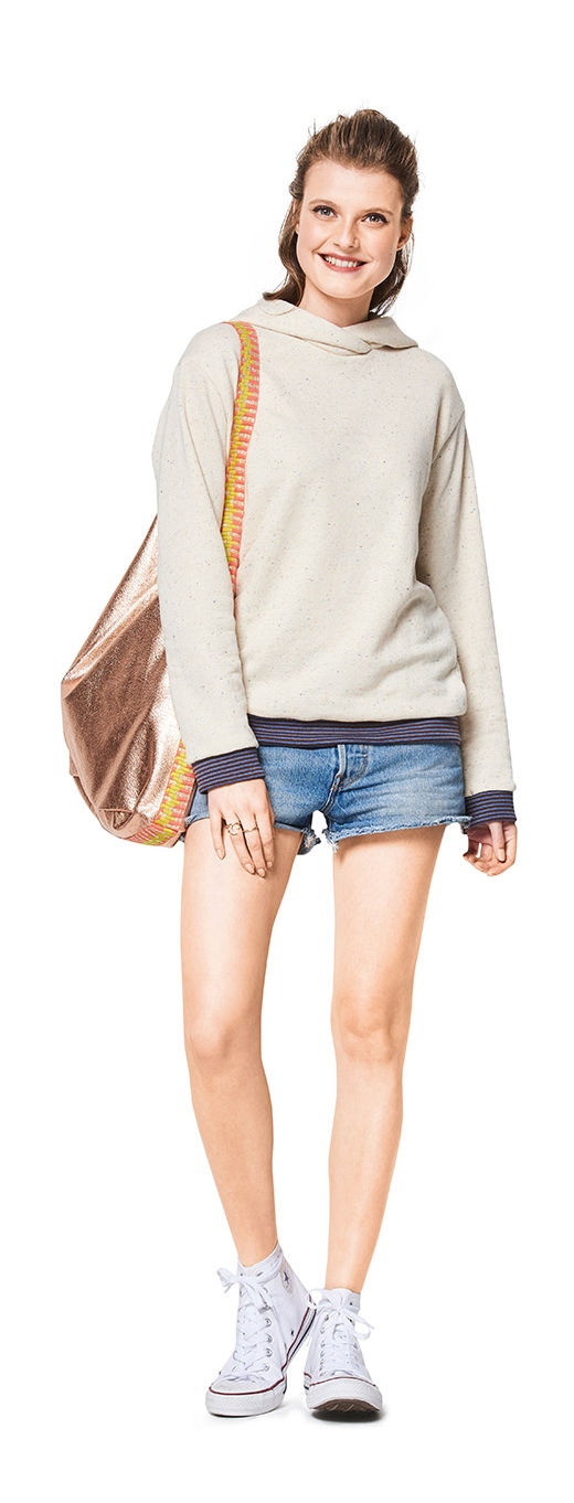 Burda naaipatroon, sweater, sweatshirt, maat 34-44
