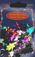 Kunststof pailletten, div, kleuren, hulst, 25mm, 10gr