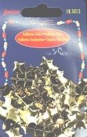 Kunststof pailletten, lichtgoud, hulst, 25mm, 10gr.