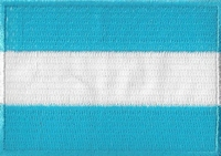 Argentinie, applicatie opstrijkbaar, 83mm x 58mm