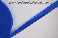 Vouwelastiek 20mm breed, per meter, koningsblauw