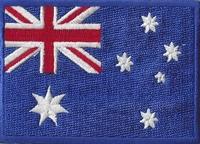 Australie, applicatie opstrijkbaar, 83mm x 58mm