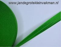Vouwelastiek 20mm breed, per meter, groen
