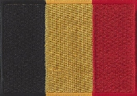 België, applicatie opstrijkbaar, 83mm x 58mm
