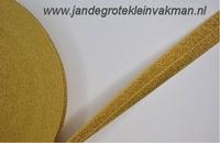 Vouwelastiek 20mm breed, per meter, goudkleur