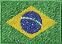 Brazilië, applicatie opstrijkbaar, 83mm x 58mm
