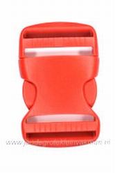 Insteekgesp, kunststof, rood, 40mm