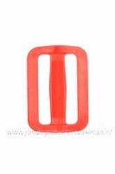 Gesp, kunststof, rood, 40mm