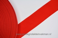 Koppelband, rood, 50mm breed, per meter