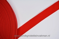 Koppelband, rood, 30mm breed, per meter