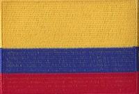Colombia, applicatie opstrijkbaar, 83mm x 58mm