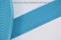 Koppelband, turquoise, 30mm breed, per meter