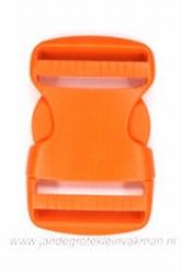 Insteekgesp, kunststof, oranje, 40mm