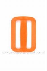 Gesp, kunststof, oranje, 40mm