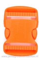 Insteekgesp, kunststof, oranje, 50mm