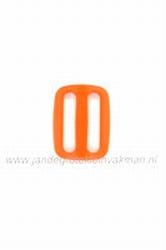 Gesp, kunststof, oranje, 25mm