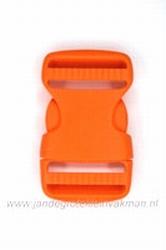 Insteekgesp, kunststof, oranje, 30mm