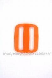 Gesp, kunststof, oranje, 30mm
