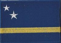 Curacao, applicatie opstrijkbaar, 83mm x 58mm