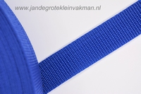Koppelband, blauw, 25mm breed, per meter