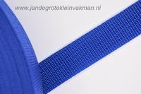 Koppelband, blauw, 25mm breed, per meter