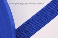 Koppelband, blauw, 30mm breed, per meter