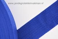 Koppelband, blauw, 40mm breed, per meter