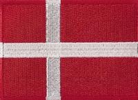 Denemarken, applicatie opstrijkbaar, 83mm x 58mm