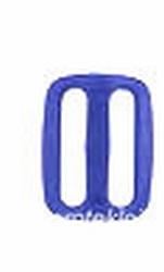 Gesp, kunststof, blauw, 25mm
