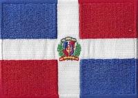 Dominicaanse Republ., applicatie opstrijkbaar, 83mm x 58mm