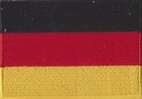 Duitsland, applicatie opstrijkbaar, 83mm x 58mm