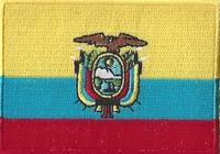 Ecuador, applicatie opstrijkbaar, 83mm x 58mm
